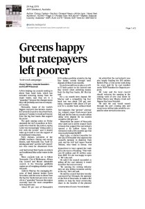 1st Pages from (2015 08 29) AFR_Greens happy but ratepayers left poorer